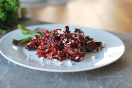 Roasted Beet Farro Risotto