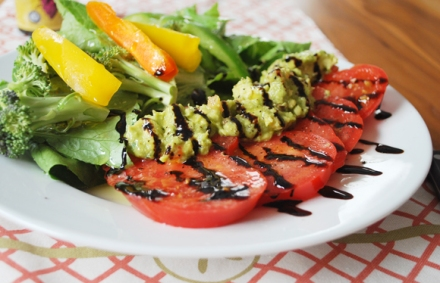 Heirloom Tomato Guacamole Salad